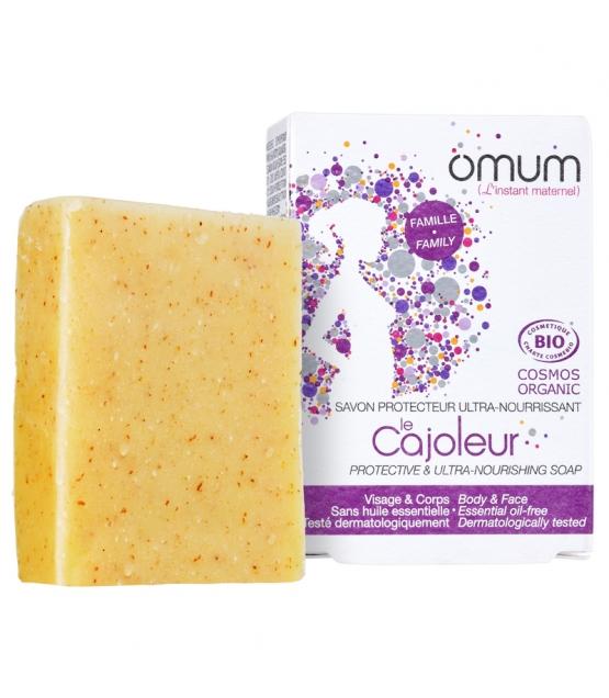 Savon protecteur ultra-nourrissant BIO beurre de karité, coco & germe de blé - Le Cajoleur - 100g - Omum