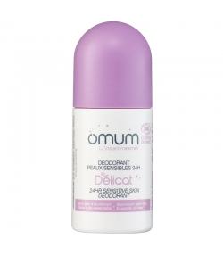 Déodorant à bille peaux sensibles 24H BIO hamamélis & lotus - Le Délicat - 50ml - Omum