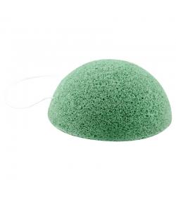 Éponge Konjac naturelle argile verte - 1 pièce - Rosenrot