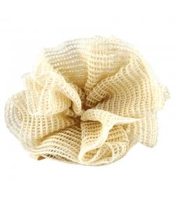 Badeblume aus Baumwolle & Hanf - 1 Stück - Rosenrot