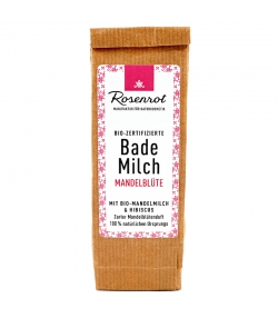Lait de bain BIO lait d'amande & hibiscus - 150g - Rosenrot