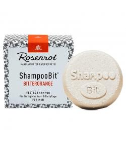 Natürliches festes Shampoo Bitterorange für Männer - 55g - Rosenrot