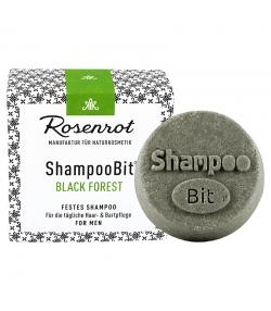 Natürliches festes Shampoo Black Forest für Männer - 55g - Rosenrot
