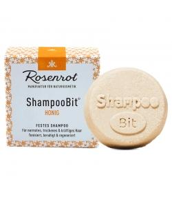 Natürliches festes Shampoo Honig - 55g - Rosenrot
