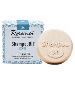 Natürliches festes Shampoo Kokos - 55g - Rosenrot