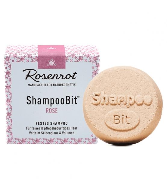 Natürliches festes Shampoo Rose - 55g - Rosenrot