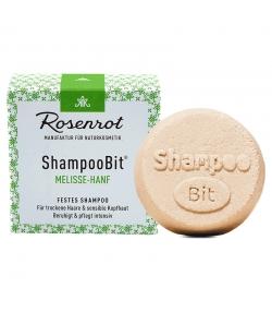 Natürliches festes Shampoo Melisse & Hanf - 55g - Rosenrot