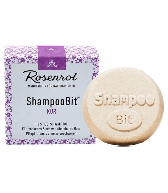 Natürliches festes Shampoo Kur Klettenwurzel & Brokkoli - 55g - Rosenrot