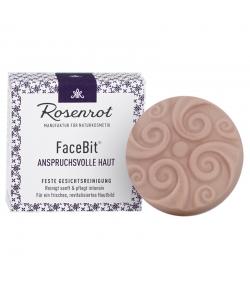 Nettoyant visage solide peau exigeante BIO rose sauvage & beurre de karité - 50g - Rosenrot