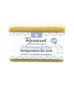 Savon bébé BIO lait de coco & huile d'amande - Blanc comme neige - 90g - Rosenrot