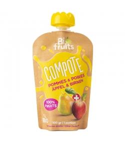 Compote pommes & poires BIO - 100g - BioFruits