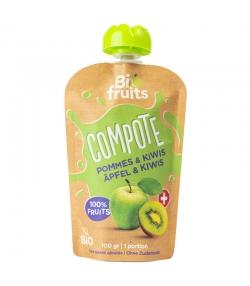 Compote pommes & kiwis BIO - 100g - BioFruits