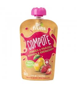 Compote poires & fraises BIO - 100g - BioFruits