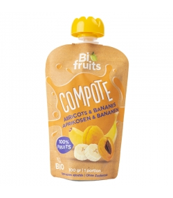 BIO-Aprikosen- & Bananenkompott - 100g - BioFruits