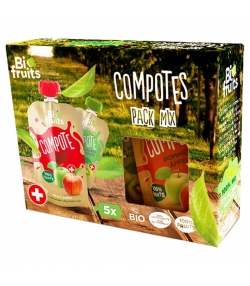 Compotes multipack 5 saveurs BIO - 5x100g - BioFruits
