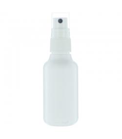 Flacon en plastique blanc 70ml avec spray et bouchon transparent - 1 pièce - Aromadis