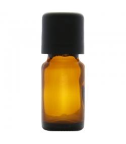 Flacon en verre brun 10ml avec bouchon codigoutte noir et sécurité enfants - 1 pièce - Aromadis