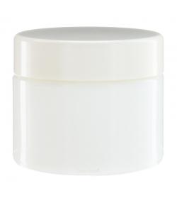 Weisse Glasdose 50ml mit weissem Drehverschluss - 1 Stück - Aromadis