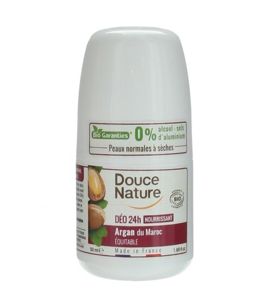 Déodorant à bille nourrissant 24h BIO argan - 50ml - Douce Nature