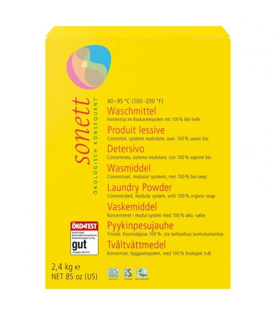 Ökologisches Waschpulver Universal - 42 Waschgänge - 2,4kg - Sonett