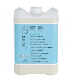 Lessive liquide sensitive écologique sans parfum - 135 lavages - 10l - Sonett