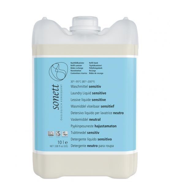 Ökologisches Flüssigwaschmittel sensitiv ohne Duft - 135 Waschgänge - 10l - Sonett