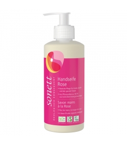 Ökologische flüssige Seife für Hände, Gesicht & Körper Rose - 300ml - Sonett