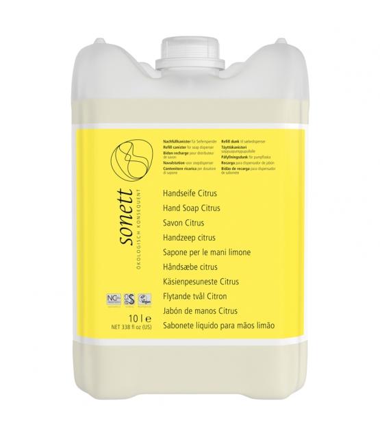 Ökologische flüssige Seife für Hände, Gesicht & Körper Citrus - 10l - Sonett