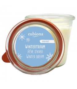 "Duftkerze Vanilla ""Wintertraum"" aus BIO-Stearin - 1 Stück - Eubiona"