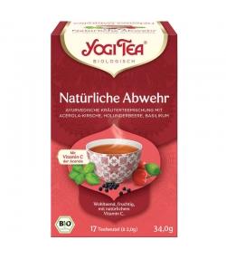 Infusion d'acérola, sureau & basilic BIO - Défenses naturelles - 17 sachets - Yogi Tea