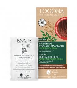 BIO-Pflanzen-Haarfarbe Pulver Mahagonirot - 100g - Logona