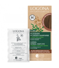 Poudre colorante végétale BIO brun cendré - 100g - Logona