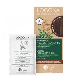 BIO-Pflanzen-Haarfarbe Pulver Kaffeebraun - 100g - Logona