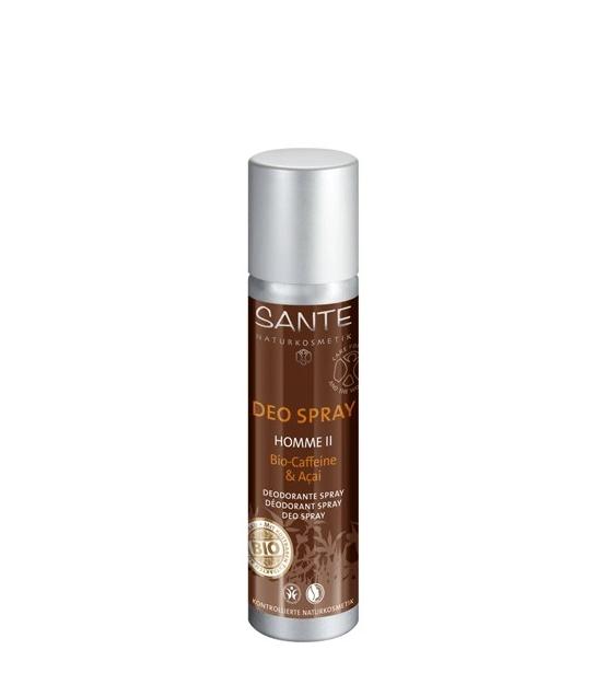 Déodorant spray homme BIO baies d'açaï & caféine - 100ml - Sante