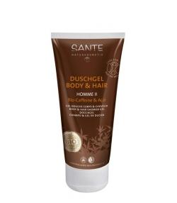 Shampooing & gel douche homme BIO baies d'açaï & caféine - 200ml - Sante