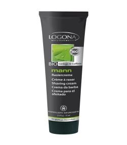 Crème à raser homme BIO ginkgo & caféine - 75ml - Logona Mann
