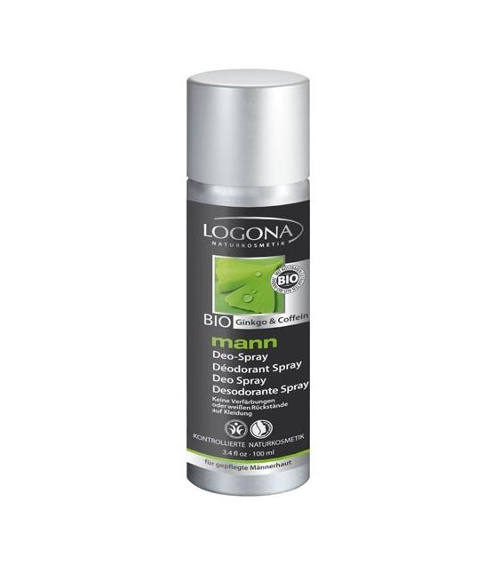 BIO-Deo Spray Ginkgo & Coffein für Männer - 100ml - Logona Mann