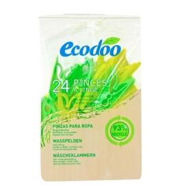 Pinces à linges écologiques & recyclées - 24 pinces à linges - Ecodoo