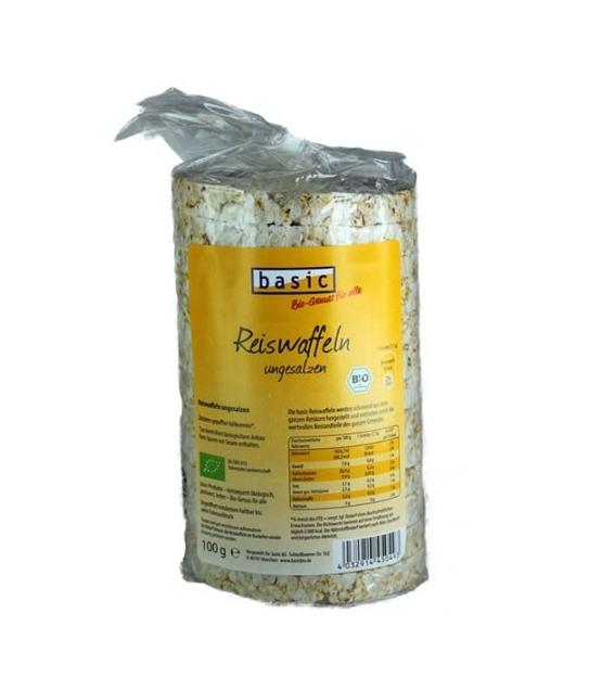 Galettes de riz non salées BIO - 100g - Basic