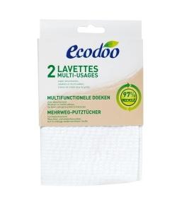 Lavettes multi-usages écologiques & recyclées - 2 lavettes - Ecodoo