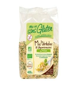 Mix céréales & légumineuses au millet BIO - Sans gluten - 400g - Ma vie sans gluten