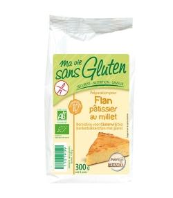 Préparation pour flan pâtissier au millet BIO - Sans gluten - 300g - Ma vie sans gluten