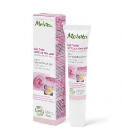 Gel frais contour des yeux BIO rose - 15ml - Melvita Nectar de Roses