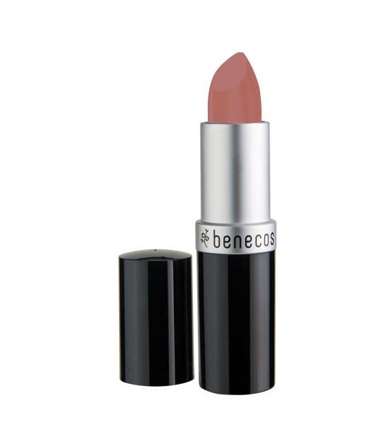 BIO-Lippenstift matt Leicht bräunliches Rosa - Pink honey - 4,5g - Benecos