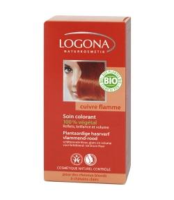 Poudre colorante végétale BIO 040 cuivre flamme - 100g - Logona