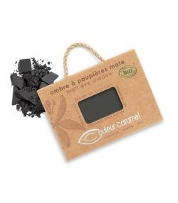 Ombre à paupières mate BIO N°023 Noir – 2,5g – Couleur Caramel