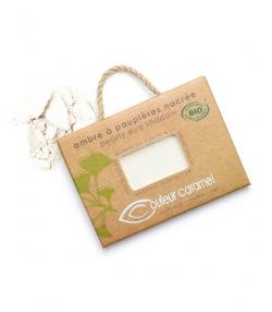 BIO-Lidschatten perlmutt N°025 Weiss – 2,5g – Couleur Caramel