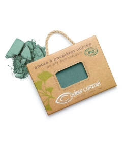 Ombre à paupières nacrée BIO N°050 Vert bleuté – 2,5g – Couleur Caramel