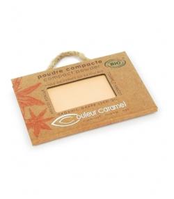 Poudre compacte BIO N°02 Beige clair – 7g – Couleur Caramel
