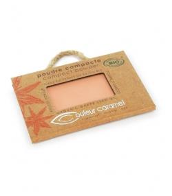 Poudre compacte BIO N°04 Beige orangé – 7g – Couleur Caramel
